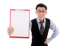Funny businessman isolated Royalty Free Stock Photo