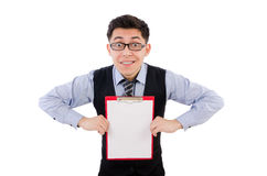 Funny businessman isolated Stock Photos