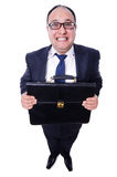 Funny businessman isolated Royalty Free Stock Image