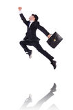 Funny businessman jumping Royalty Free Stock Photography