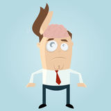 Funny businessman with open head. Clipart of of a funny businessman with open head Royalty Free Stock Photography