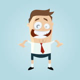 Funny businessman in shorts. Illustration of a funny businessman in shorts Stock Photo
