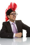 Funny businessman smiling Stock Images