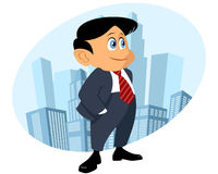 Funny businessman smiling Stock Image