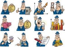 Funny businessmen set Stock Image