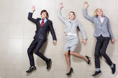 Funny businesspeople Stock Images