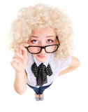 Funny businesswoman concept Stock Image