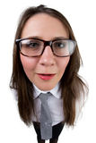 Funny businesswoman with glasses Stock Image