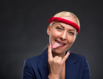 Funny businesswoman Royalty Free Stock Images