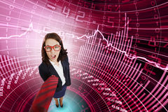 Funny businesswoman Stock Image
