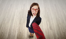 Funny businesswoman Stock Photography