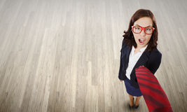 Funny businesswoman Stock Image