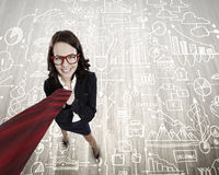 Funny businesswoman Stock Images