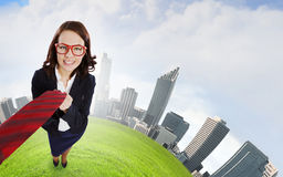 Funny businesswoman Royalty Free Stock Photography