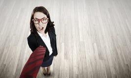 Funny businesswoman Stock Photo