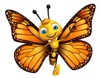funny Butterfly cartoon character Royalty Free Stock Image