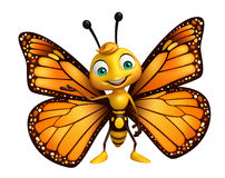 funny Butterfly cartoon character royalty free stock photography