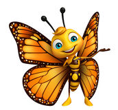 funny Butterfly cartoon character Royalty Free Stock Photo