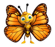 Funny Butterfly cartoon character. 3d rendered illustration of funny Butterfly cartoon character Royalty Free Stock Photos