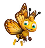 funny Butterfly cartoon character Stock Images