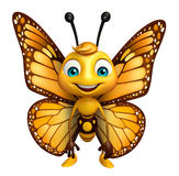 Funny Butterfly cartoon character. 3d rendered illustration of funny Butterfly cartoon character Stock Photo