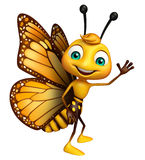 Funny Butterfly cartoon character. 3d rendered illustration of funny Butterfly cartoon character Royalty Free Stock Image