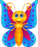 Funny butterfly cartoon Royalty Free Stock Photography