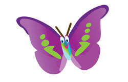 Funny butterfly Stock Image