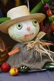 Harvest celebration cabbage man Royalty Free Stock Photography