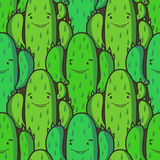 Funny cactus - seamless pattern Royalty Free Stock Photography