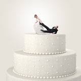 Funny cake topper Stock Photography