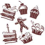 Funny cakes Royalty Free Stock Photography