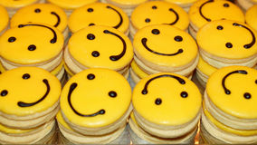 Funny cakes smile Stock Photos