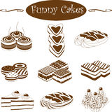 Funny cakes Stock Photo