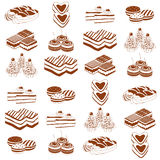 Funny cakes Royalty Free Stock Images