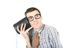 Funny call centre staff Royalty Free Stock Image