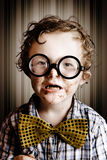 Funny little boy choca block from easter chocolate Royalty Free Stock Photography