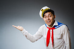 Funny captain Royalty Free Stock Image