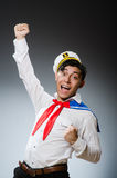Funny captain sailor Royalty Free Stock Photography