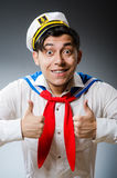 Funny captain sailor Stock Image