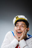 Funny captain sailor Stock Photos
