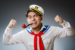 Funny captain sailor Royalty Free Stock Image