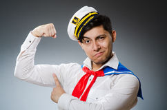 Funny captain sailor Royalty Free Stock Photo