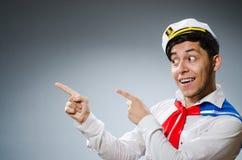 Funny captain sailor Stock Photography