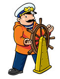 Funny captain or yachtman Stock Photos