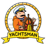 Funny captain or yachtsman. Profession ABC series Royalty Free Stock Photography