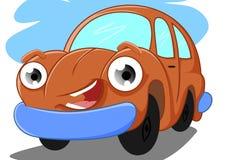 Funny car. Illustration of funny car orange Stock Photo