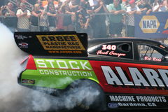 Funny Car Burnout Stock Photo