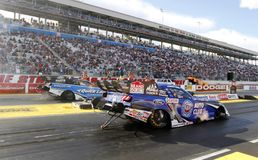 Funny Car Finals at the Strip In Las Vegas Stock Photography