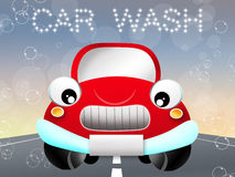 Funny car wash Stock Images